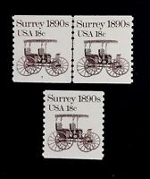 US Stamps, Scott #1907 18c 1983 JLP #7 & single XF/Superb M/NH. PO fresh.
