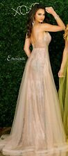 ENVIOUS COUTURE SPARKLY PINK TULLE/JERSEY PROM GOWN BNWT SIZE 8