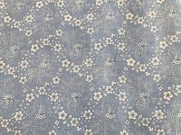 Sky Blue FQ Fat Quarter Fabric Flowers Floral Blended100% Cotton Quilting