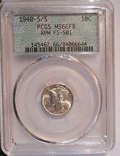 1940-s S/S/S/S RPM . Mercury Dime . PCGS MS66FB . Cherry Pickers FS-501 Variety