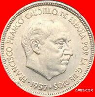 ESPAÑA 5 PESETA FRANQUISMO CIRCULADA BUENA CONSERVACION AÑO 1957*64