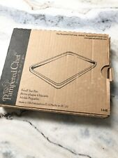 """Pampered Chef Small Bar Pan Toaster Oven Cookie Sheet Stoneware 9x7"""" #1448"""