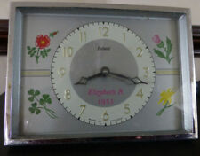 Smiths Enfield Royal Commemorative Travel/Bedside Clock Queen Elizabeth 11,1953