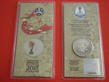 Russia 2017 25 Rubles 2018 FIFA World Cup 2nd coin Colored. blister. Special ed