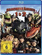 DRACHENZÄHMEN LEICHT GEMACHT 1+2 (2 Blu-ray Discs) NEU+OVP