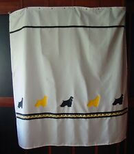 Soft Coated Wheaten Terrier Dog Shower Curtain White w/black and yellow Sale