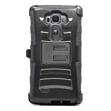 For LG G Flex 2 Holster Case Cover Belt Clip Hybrid Armor Shockproof Rubber