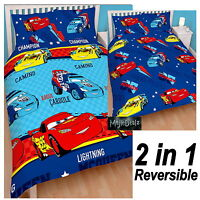 DISNEY CARS PISTON DOUBLE DUVET COVER & PILLOWCASE SET KIDS BEDROOM BEDDING