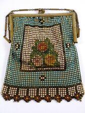 New listing Vintage Whiting & Davis Enamel Mesh Puff Flower 1920's Flapper Purse Handbag