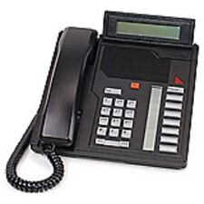 Five Refurbished Black Nortel M2008D Phones, Nortthern Telecom Meridian Options
