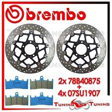 Dischi Freno Anteriore BREMBO + Pastiglie C.C. SUZUKI GSX-R 1000 2001 01 2002 02