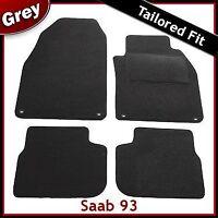 SAAB 9-3 93 Pre-facelift Mk2 2002-2008 Tailored Carpet Car Floor Mats GREY