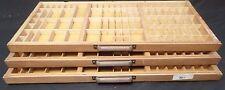 Vtg Wooden Typeset Printing Block Letter Press Shadow Box Drawer Tray - Lot of 3