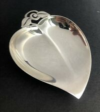 More details for sterling silver tiffany % co silver leaf dish