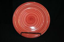 """Philippe Richard red SWIRL hand-painted & crafted 8 1/2"""" salad bread Plate"""