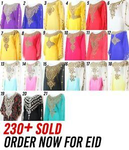 *EID SPECIAL* Dubai Moroccan Style Kaftan Farasha Jalabiya Maxi Dress Abaya **