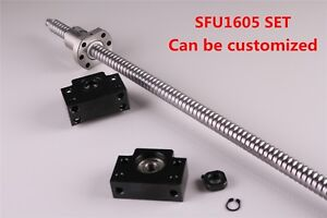 Ball Screw SFU1605 w Ball Nut End machine w BK12/BF12 End Support L=300 - 1500MM