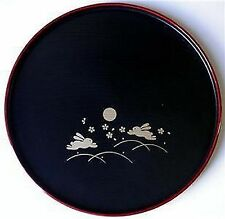 Japanese Dinner Sushi Serving Plate Round Bunny #6419 S-2941