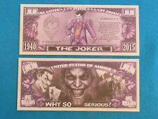 The JOKER: Batman's Supervillainin in DC Comics ~ $1,000,000 One Million Dollars