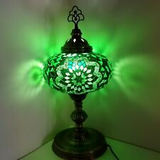 Mosaic Turkish Moroccan Table Bedside Desk Tiffany Lamp Authentic Green Size 5
