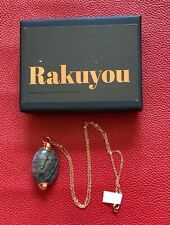 RAKUYOU handcrafted copper Dragons Jasper pendant necklace with rose gold chain
