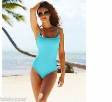 NWT 16 Anne Cole Signature Sexy Lingerie Classic One Piece Turquoise Swimsuit
