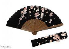 NEW HASEGAWA JAPANESE FOLDING FAN SENSU HANDMADE SAKURA with original case JAPAN