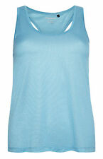 PRIMARK LADIES WOMENS TURQUOISE MESH WORKOUT VEST TANK TOP GYM WEAR BNWT 8
