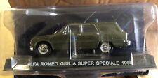 "DIE CAST "" ALFA ROMEO GIULIA SUPER SPECIALE 1968 "" POLIZIA SCALA 1/43"