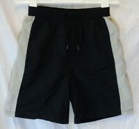 Boys George Black Grey Mesh Lined Holiday Swimming Swim Shorts Age 8-9 Years