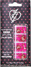 Iron Fist Love Me ahora Pink Nail Polish Tiras, Nail Art Uñas Stickers