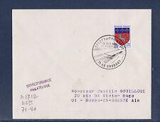 ec68/ Enveloppe   sport et philatélie  Le Creuzot        1968
