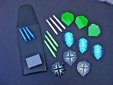 29 PIECE DARTS ACCESSORY PACKAGE STEMS CASE POINT COVER FLIGHTS FREE POST