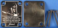 Custom Engraved BLACK Neck Plate - 4 Hole Fender Guitar Style