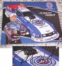 NHRA Robert Hight Signed 8X10 COLOR PHOTO COA