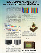 PUBLICITE  1973   SONY  Triniton  la télévision en couleurs