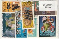 25 verschiedene Briefmarken  Zirkus , Akrobaten , Manege