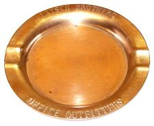 VINTAGE Brass Ashtray LATSCH BROTHERS Office Outfitters Since 1916 in Lincoln NE