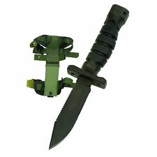 NEW ONTARIO 1400 ASEK GREEN BLACK SURVIVAL KNIFE SYTEM KIT SHEATH STRAPS USA