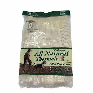 Heavyweight Thermal Pants JE Morgan All Natural Thermals Cotton Mens M 34 36