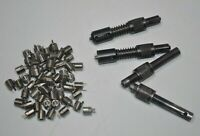 Lot of 4 Insert Installation Tools with 50 SS 8-32 Key Locking Threaded Inserts