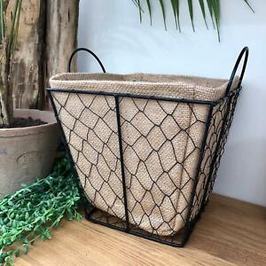 French Country Vintage Wire Mesh Storage Kitchen Egg Bathroom Basket Holder