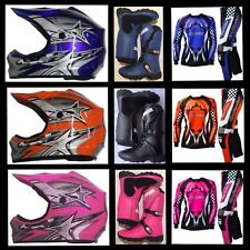 Kids Junior Peewee MX Dirt Bike Motorcycle Boots Jersey Pants Helmet Combo