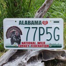 Plaque d'immatriculation de l'Alabama (77P5G)  License Plate USA  Authentique