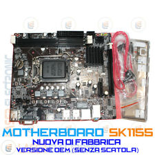 Motherboard Scheda Madre Intel 1155 + Socket CPU i3-i5-i7 Scheda Video Integrata