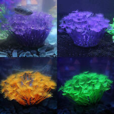 Artificial Anemone Silicone Coral Ornaments Aquarium Fish Tank Plant Deco haji