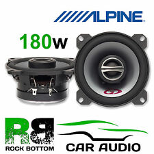"Fiat Punto 93-99 Rear Tray Car Speakers Alpine 10cm 4"" 2 Way 180 Watts"