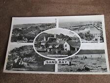 Tuck real photo Somerset postcard - Sand Bay scenes -Nr Weston / Kewstoke