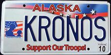 "ALASKA "" SUPPORT OUR TROOPS "" 2010 AK Military Vanity Specialty License Plate"