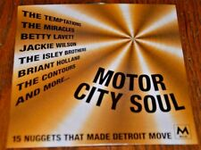 MOTOR CITY SOUL 15 Nuggets That Made Detroit Move CD Mojo Temptations Miracles